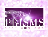 Prisms Erotic Glass Logo on pink screen 290 x 223