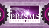 Prisms Erotic Glass Web Banner on purple screen 1920 x 1080