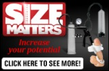Size Matters Ad Banner Black 195 x 127