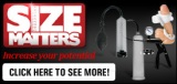 Size Matters Ad Banner Black 275 x 130