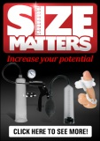 Size Matters Ad Banner Black 300 x 425