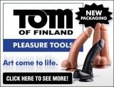 Tom of Finland Dildo Ad Banner 390 x 300