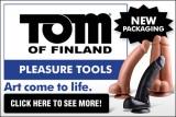 Tom of Finland Dildo Ad Banner 450 x 300