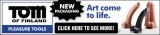 Tom of Finland Dildo Ad Banner 600 x 130