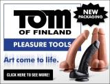 Tom of Finland Dildo Ad Banner 600 x 461