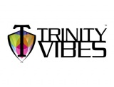 Trinity Vibes Horizontal Logo White Wide 390 x 300